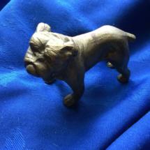 Small vintage brass bulldog
