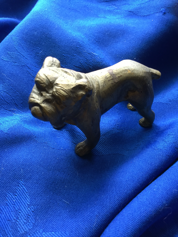 Small vintage brass bulldog