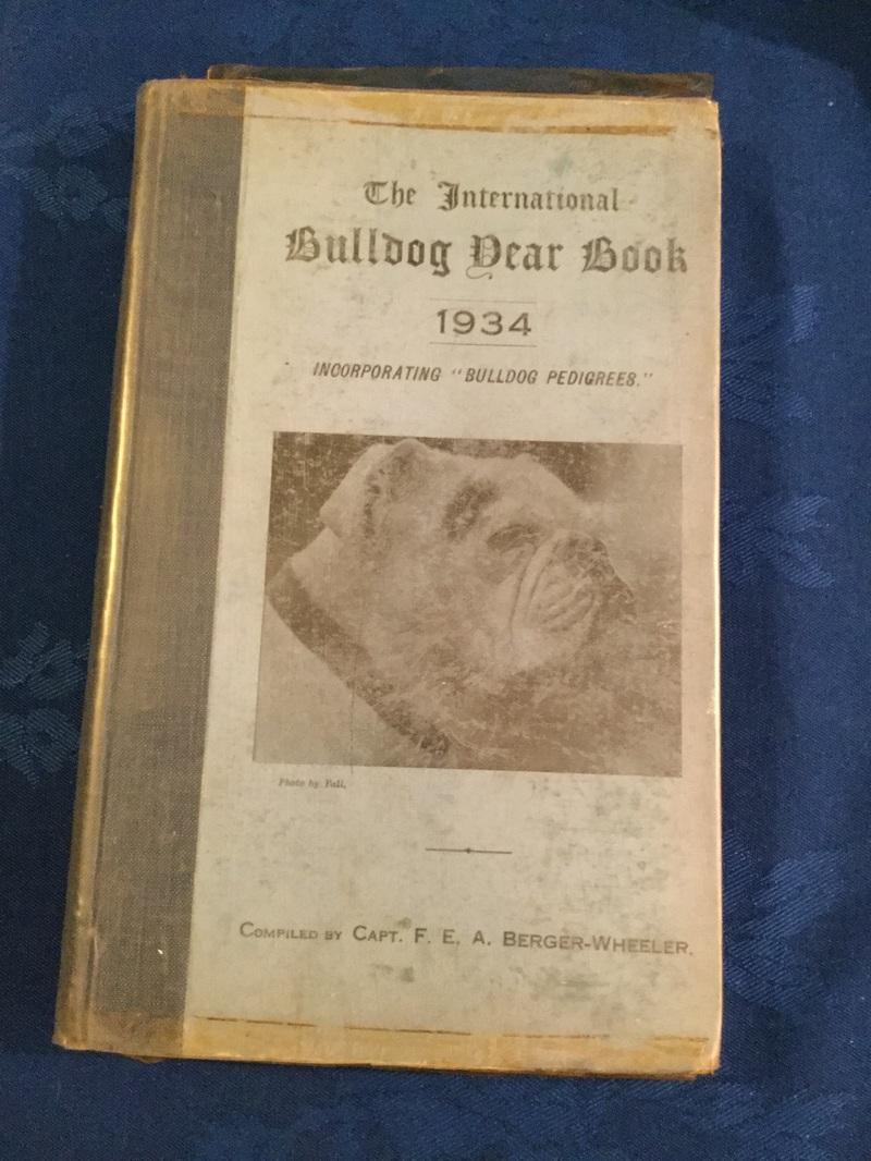 Special Vintage 1930s bulldog book
