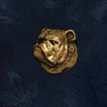 Bulldog head pin