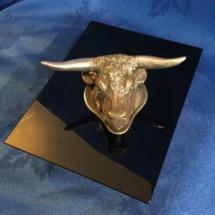 Silver bullhead horn