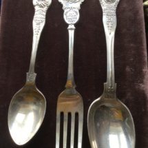 Large silver cutlery pieces
