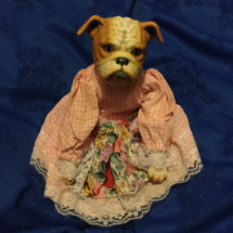 Vintage bulldog dolly