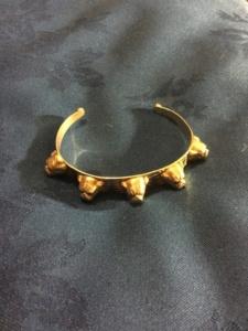 Sterling silver bulldog bangle