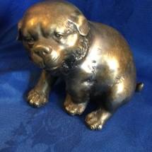 Japanese bronze bulldog