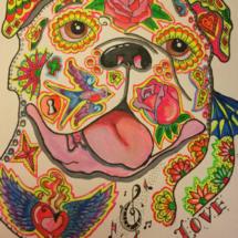 Art work sugar skull