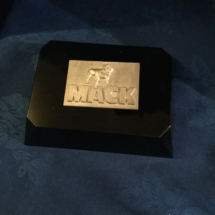Mack truck metal tag