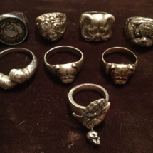 Assorted silver rings