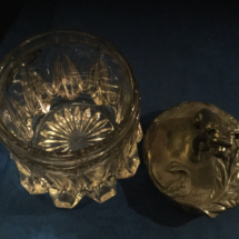 Crystal glass silver plated humidor
