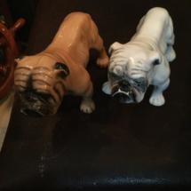 Ceramic bulldog figurines