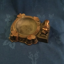 Copper cigar tray for poker table