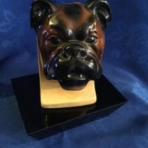 Bulldog head bust