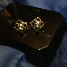 Bronze twisted bulldog cuff links