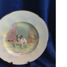 Crown Devon dog series plate England