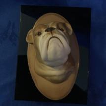 Bulldog Wall Plaque
