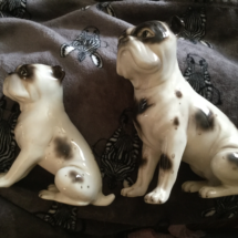 Austrian made bulldog figurines