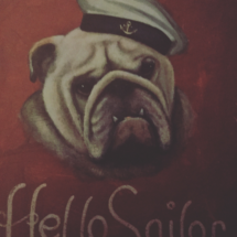 Sailor bulldog painting