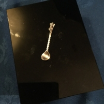 Small silver mustard spoon