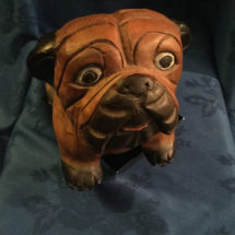 Wooden bulldog