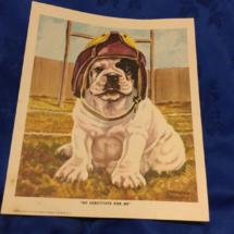 Print of fire bulldog