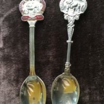 Various silver club spoons