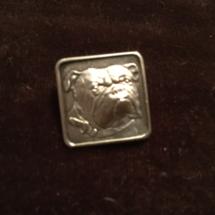 Silver designer brooch