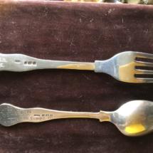 Silver club cutlery