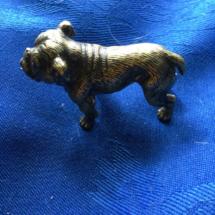 Tiny brass bulldog