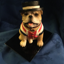 Seated Resin Bulldog