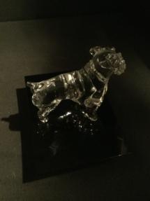 Glass bulldog