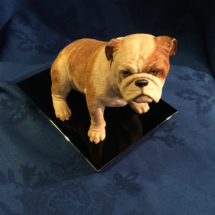Seated bulldog figurine