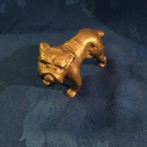 Vintage brass bulldog