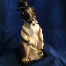 Japanese made bulldog decanter