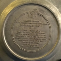 Mack trucks pewter plate back story 1