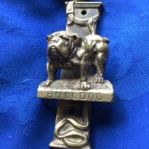 Detailed brass knocker