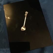 Silver mustard spoon