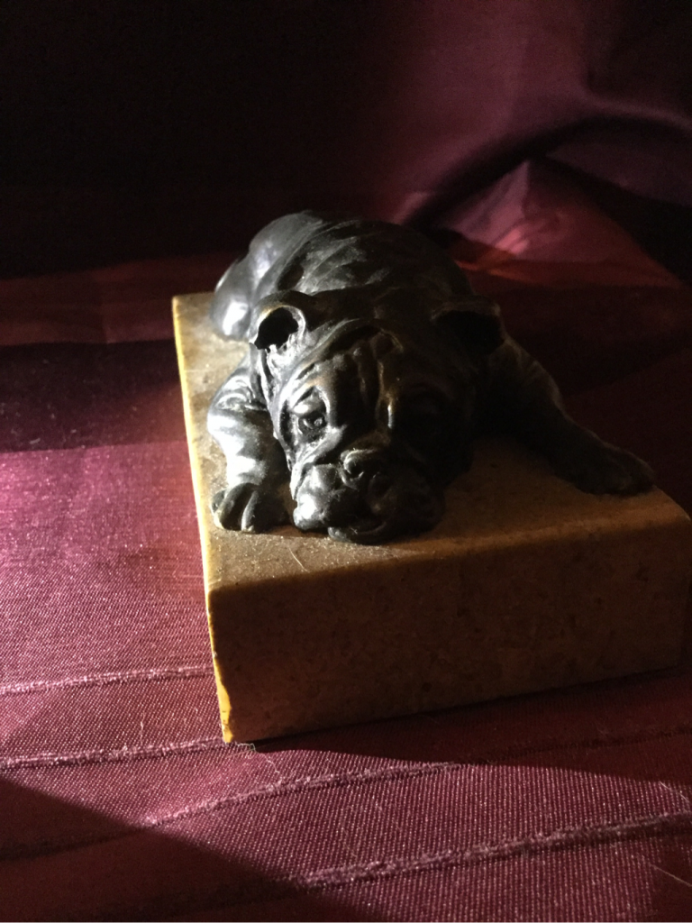 Doris Linder bronze bulldog