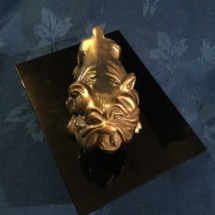 Large Art Deco brass bulldog