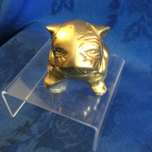 Small art deco seated brass bulldog