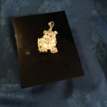Sterling silver BAD BOY bulldog pendant