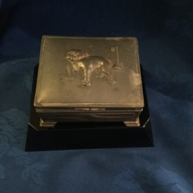 copper plated cigar bulldog box