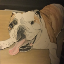 Painting of Scruffy Louise