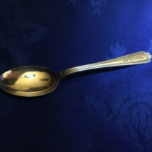 Silver club spoon