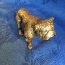 Bronze standing bulldog