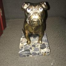 Seated metal bulldog