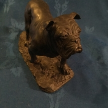 Cold cast bronze bulldog