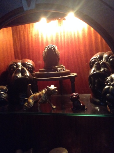 Antique bulldog collectibles