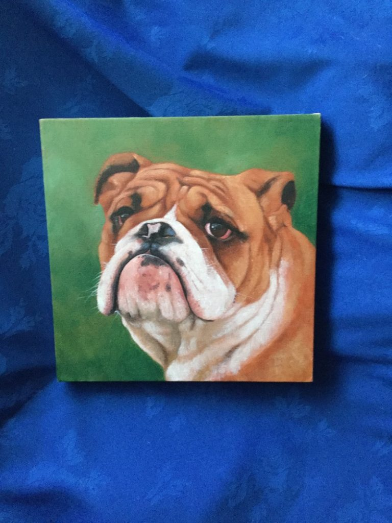 Bulldog Painting Set Of 3