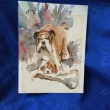 Beautiful Bulldog Painting