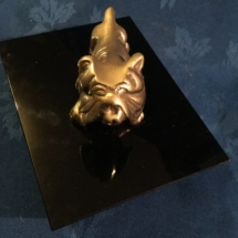 Art deco style brass bulldog part of set
